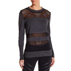 Alo Yoga Plank Mesh Panel Long Sleeve Top
